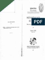 LAUER, Quentin - Phénoménologie de Husserl. Essai sur la genèse de l_intentionnalité