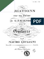 Op 107 Variations Sur Un Theme de G.F Haendel