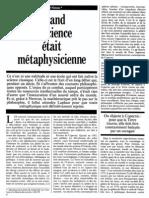 Gérard Simon - Quand la science était métaphysicienne