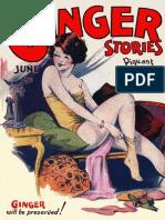 Ginger Stories June 1929 Pulp Magazine Erotic Stories, Artwork, and Humor
