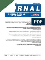JEB Vol.7 No1 Mar 2013 Implementasi Efficient Frontier Dalam Optimisasi Portofolio