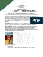 psychology syllabus