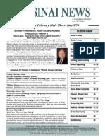 January-February Sinai News, 2014