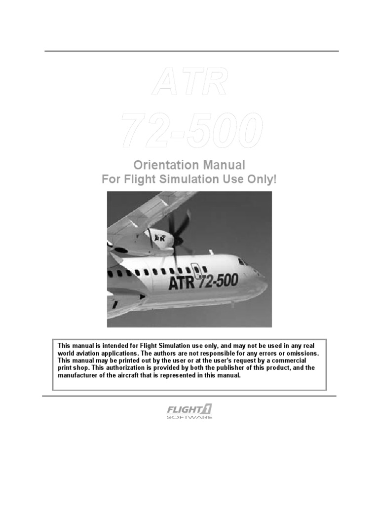 Flight1 Atr manual download