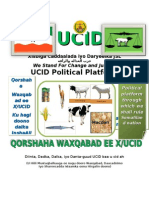 UCID Xisbiga Caddaalada iyo Daryeelka JSL حزب العداله والرأفه We Stand For Change and Justice UCID Political Platform