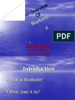 Seminar on Bluetooth Ppt Fromat