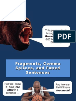 Fragments, Comma Splices, and Fused Sentences- Grammar Bytes - Lab Lesson
