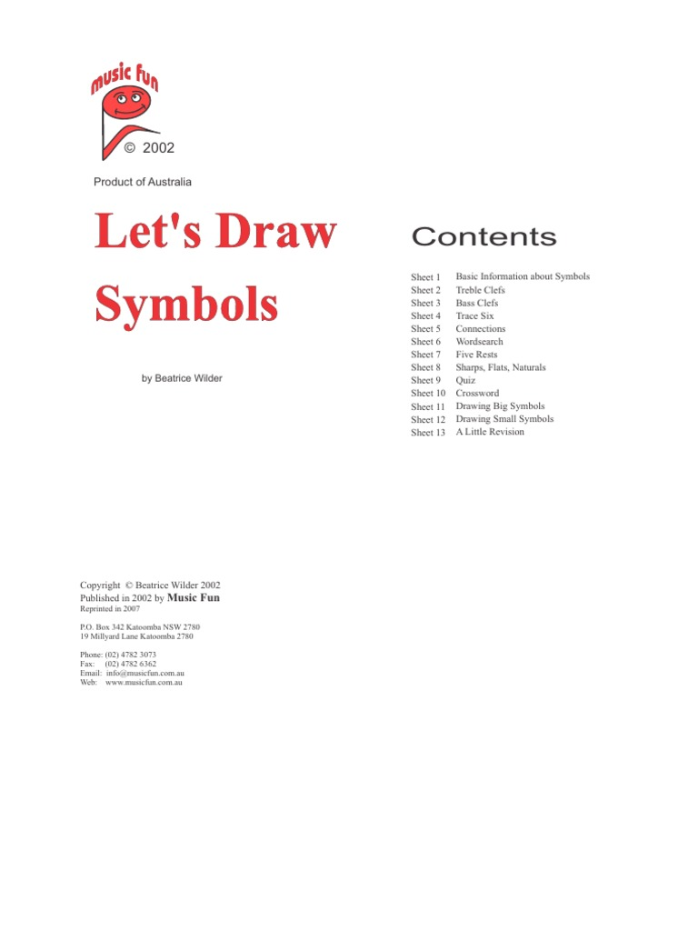 Draw Symbols Clef Musical Forms