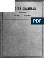 Edw. Vickner - A Brief Swedish Grammar