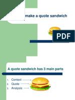 QuoteSandwich - Lab Lesson
