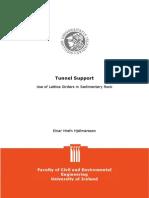 Tunnel Support- Use of Lattice Girders in Sedimentary Rock