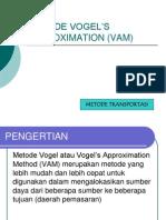 Modul OR - METODE VOGEL'S APPROXIMATION (VAM)