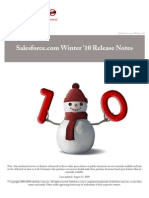 Sales Force Winter10 Release Notes