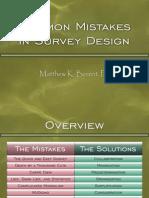 Common Survey Mistakes
