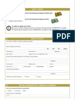 Green and Gold Card Application Form