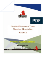 Certification in Hospitality