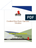 Data Entry Certification