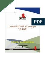 HTML5 Developer Certification