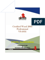 Word 2003 Certification