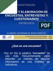 DISEÑO Y ELABORACIÓN DE ENCUESTAS, ENTREVISTAS Y CUESTIONARIOS