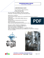 MIGZ Trunnion Ball Valve, CastBody,2pc 2014