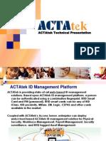ACTAtek Training ACTA3 in Depth