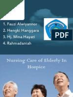 Nursing Care of Elderly in Hospice