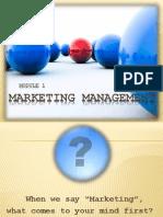 introduction to marketing managemnet