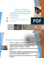 Identification of Proteins Through Mass Spectrometry Databases