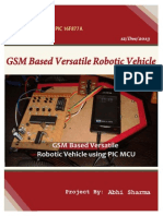 GSM Based Versatile Robotic Vehicle Using PIC Microcontroller Report