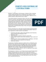 Contractor Procurement Document