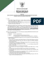 Pengumuman Hasil Sel Cpns Umum 2013 (1)