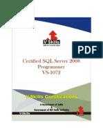 SQL Server 2008 Programmer Certification