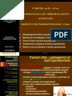 Rezidentiat Chirurgie Dento-Alv. PARODONTOLOGIE