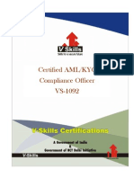 AML- KYC Compliance Officer Certification