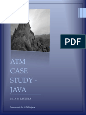 ATM Case Study Code-java | Automated Teller Machine | Method