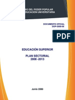 Plan Sectorial08!31!06