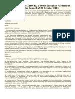 Regulation 1169 - 2011 on Labelling of Food