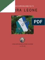 Peace Corps Sierra Leone Welcome  Book  |  June 2013