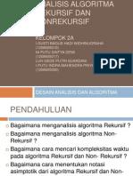 Analisis Algoritma Non Rekursif dan Rekursif.ppt
