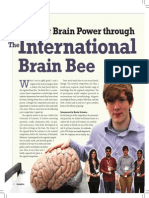Writeup by National Brain Bee Winner IBB2012