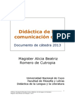 Didáctica de la Comunicación Oral