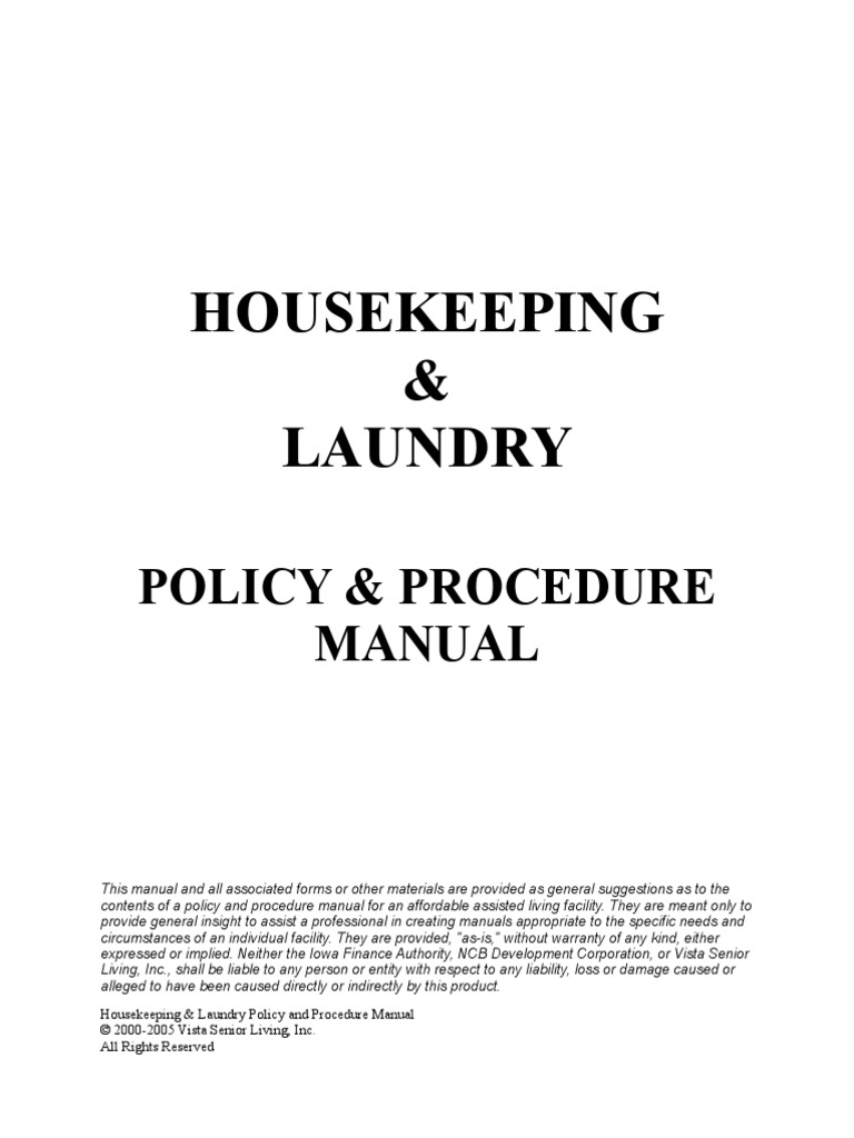 creating a policy and procedure manual