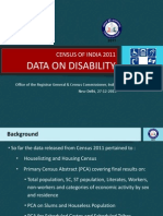Disability 2011 Data Release Dec 2013 PPT (27.12.13)