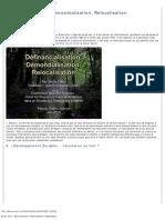 Définancialisation, Démondialisation, Relocalisation