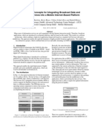 Architectural Concepts for Integrating Broadcast Data and Streaming Services into a Mobile Internet-Based Platform