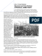 Occupy Movement and Port Workers