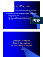 Emotion-based multimedia browsing (R&D Proposals)