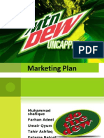 Marketing Plan on Mountain DEW
