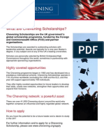 What Are Chevening Scholarships